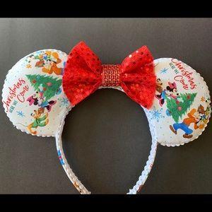 Disney Christmas Minnie Ears, Holiday Minnie ears